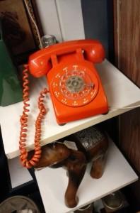 Phone at Portland antique shop. Circa 1971