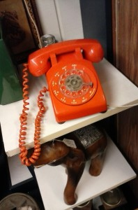 Phone at Portland antique shop. Circa 1971