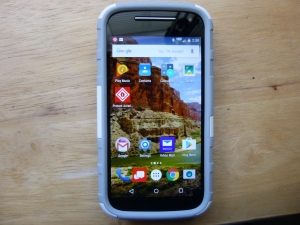 Photos of my Motorola Moto-e 2nd generation 2015 phone. 4/30/2016