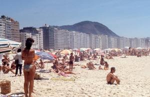 Rio de Janeiro - Copacabana Beach. 1/25/1974